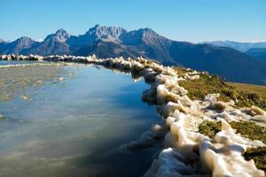 lago di montagna ghiacciato foto