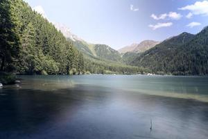 panorama sul lago di Anterselva