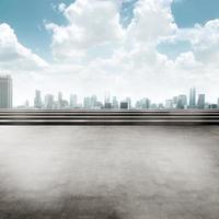 Jakarta Piazza dello sfondo della città foto