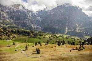 paesaggi di montagna intorno a Grindelwald, Svizzera