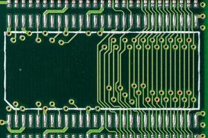 dettaglio di un circuito stampato foto