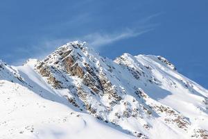 cime di montagna vicino kaiserbahn, kühtai, sellraintal, tirolo, austria foto