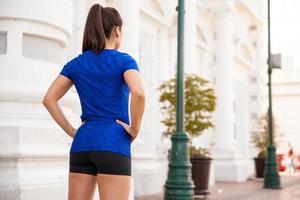 allenamento per corridori in città foto