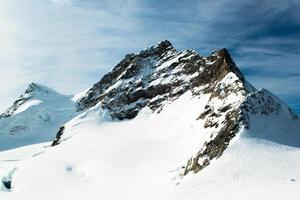 paesaggio alpino delle alpi a jungfraujoch, cima dell'Europa svizzera foto