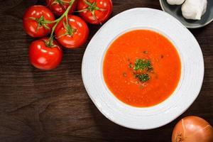 zuppa di gazpacho di pomodoro