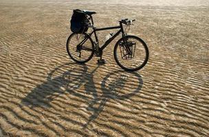 bici nel deserto foto
