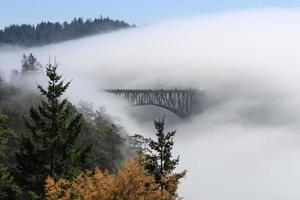 la nebbia avvolge il passaggio dell'inganno foto