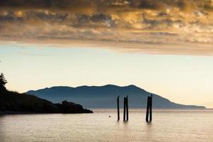 tramonto dell'isola foto