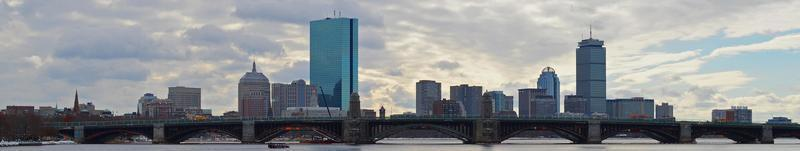 skyline di Boston foto