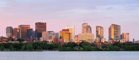 panorama di paesaggio urbano di Boston foto