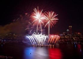 quarto di luglio fuochi d'artificio a Boston 2 foto