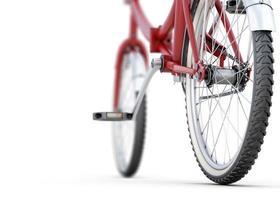 vista di angolo posteriore del primo piano della bicicletta