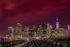 skyline di manhattan foto