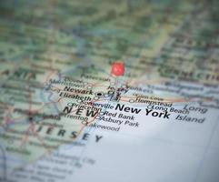 perno della mappa a New York foto