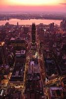 orizzonte di tramonto di Manhattan foto