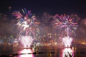 fuochi d'artificio di festa dell'indipendenza di New York City foto