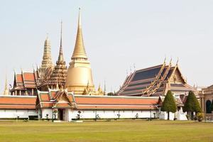 Wat Phra Kaew, tempio dello smeraldo Buddha, Bangkok, Tailandia foto