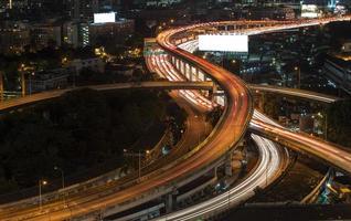 paesaggio che sviluppa distretto aziendale moderno di Bangkok. s-shaped foto