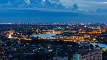 paesaggio urbano di Bangkok di panorama foto