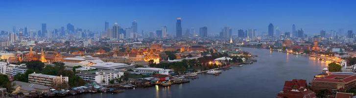 vista panoramica di bangkok foto