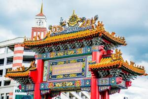 Cancello del drago, Chinatown Bangkok Tailandia foto