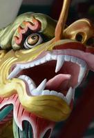 drago cinese del tempio della Tailandia Bangkok foto