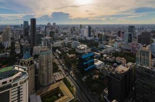 Vista di Bangkok nell'area d'affari