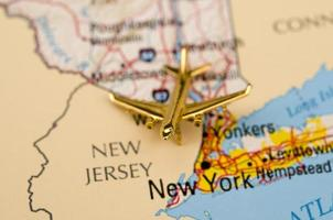 aereo sopra new york foto