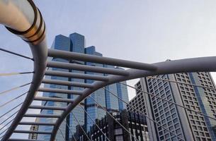vista della costruzione della città di Bangkok foto