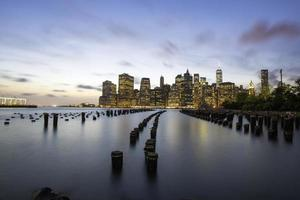 tramonto di new york city
