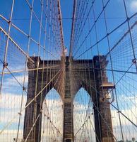 il ponte di Brooklyn a New York City foto