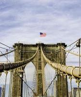 Ponte di Brooklyn a New York City, Stati Uniti d'America foto
