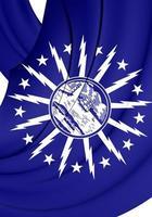 bandiera del bufalo (new york), stati uniti d'america. foto