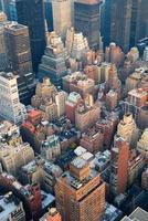 vista aerea dell'orizzonte di New York City Manhattan foto