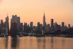 skyline di manhattan, new york city foto