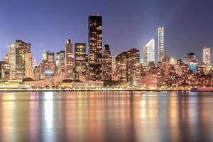 Midtown Manhattan di notte foto
