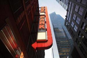 segno del parcheggio, New York City, Stati Uniti d'America foto