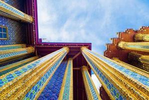 Wat Phra Kaew a Bangkok - Tempio di Buddha di smeraldo foto