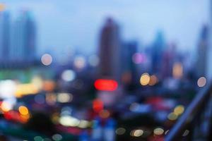 paesaggio urbano di Bangkok al tempo crepuscolare foto