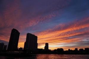 vista della città di bangkok foto