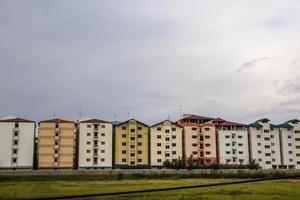 l'edificio fu costruito fianco a fianco in Tailandia. foto