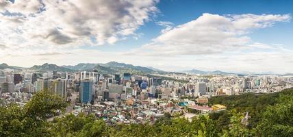 panorama di Seoul foto