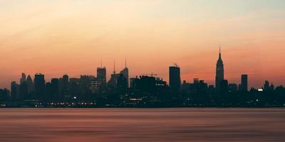 sagoma di new york city foto