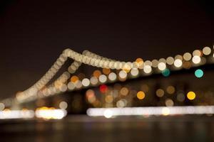ponte di Manhattan sfondo sfocato foto