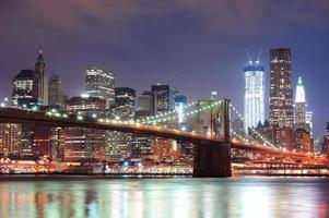 ponte di Brooklyn a New York City foto
