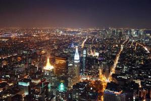vista aerea di New York City foto