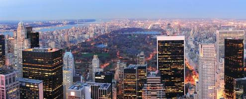 panorama di Central Park di New York City