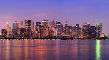 panorama di crepuscolo di New York City Manhattan foto