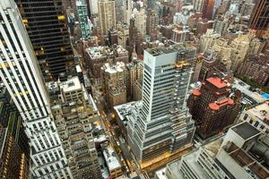 vista aerea di New York City Manhattan