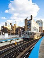 """il treno """"l"""" di chicago foto"""